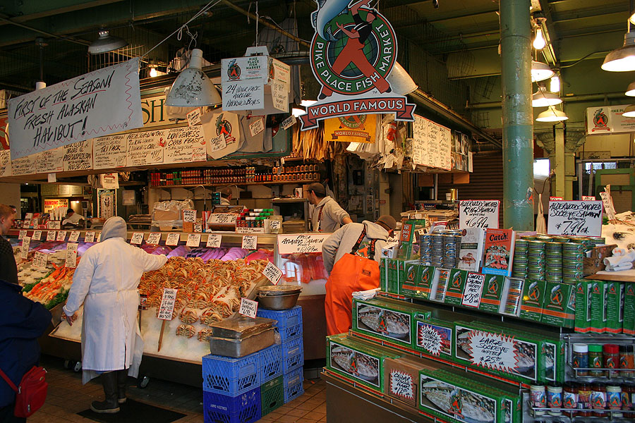 Je suis en france encore for Famous fish market in seattle